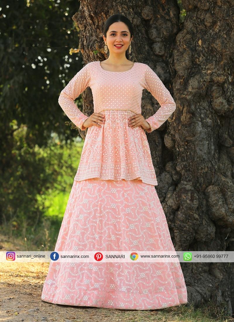 Designer Readymade Lehngha With Long Choli