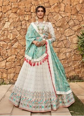 Aari Work Pure Georgette Readymade Chaniya Choli in