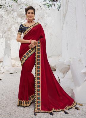 Aari Work Silk Trendy Saree