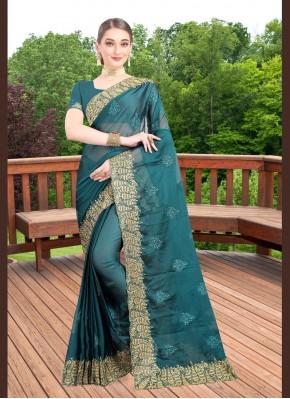 Absorbing Teal Traditional Saree