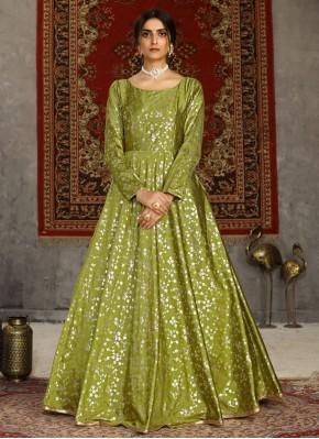 Adorable Foil Print Designer Gown