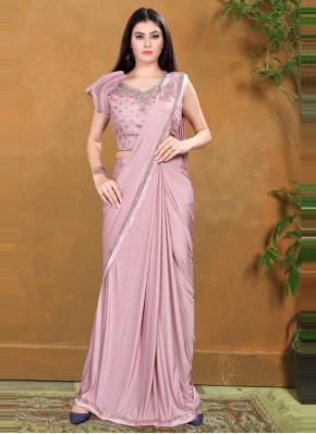 Adorable Lycra Sequins Trendy Saree
