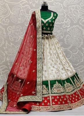 Adorable Patch Border Silk Lehenga Choli