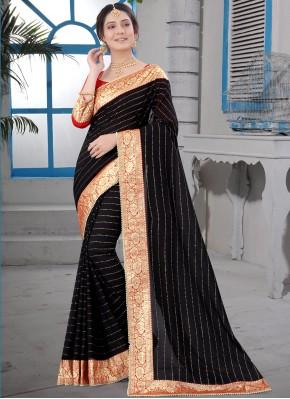 Adorning Patch Border Party Designer Saree