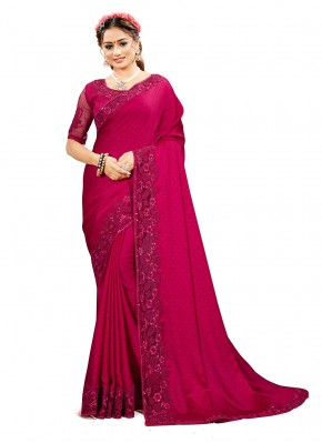 Adorning Rani Satin Silk Traditional Designer Saree