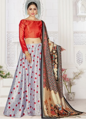 Adorning Satin Digital Print Readymade Lehenga Choli