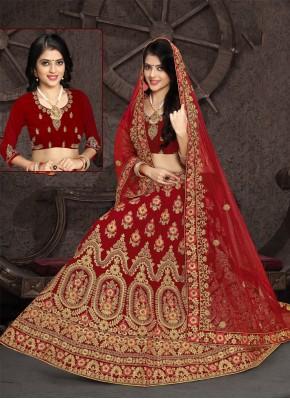 Adorning Velvet Zari Designer Lehenga Choli