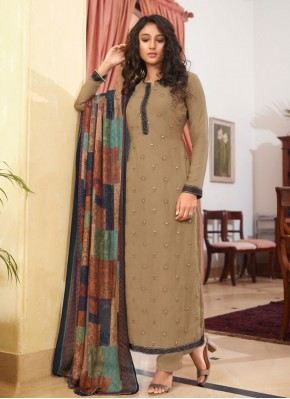 Aesthetic Embroidered Designer Straight Suit