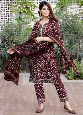 Aesthetic Maroon Designer Salwar Suit