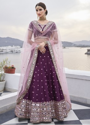 Aesthetic Silk Wedding Bollywood Lehenga Choli