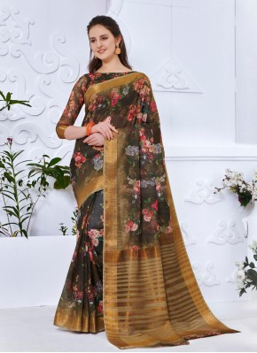 Affectionate Abstract Print Casual Printed Saree