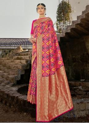 Affectionate Banarasi Silk Weaving Pink Traditional Designer Saree