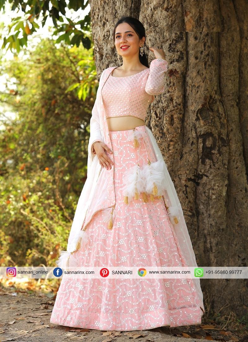Affectionate Chiffon Designer Readymade Lehngha Choli