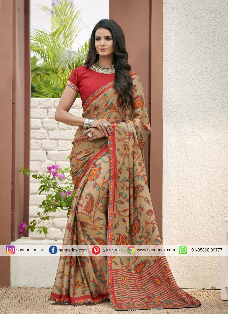 Affectionate Faux Georgette Casual Printed Saree