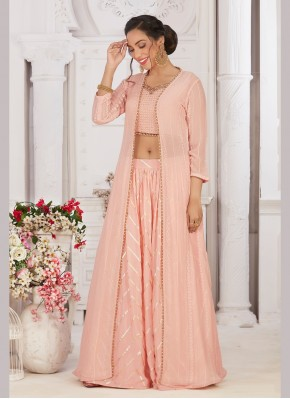 Affectionate  Georgette Jacket Style Suit