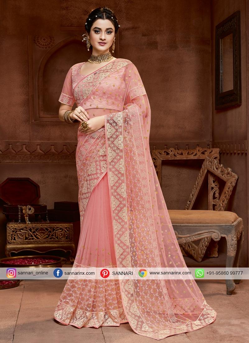 Amazing Embroidered Bridal Designer Saree