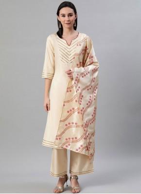 Amazing Print Poly Silk Bollywood Salwar Kameez