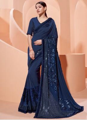Angelic Sequins Mehndi Traditional Designer Saree