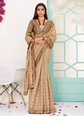 Angelic Silk Beige Weaving Traditional Saree