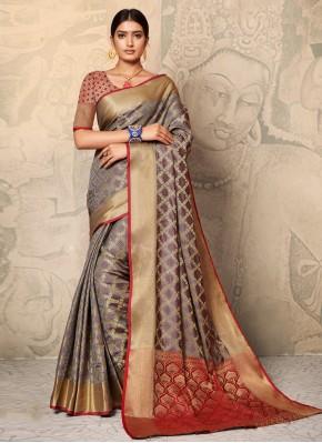 Angelic Weaving Multi Colour Contemporary Saree