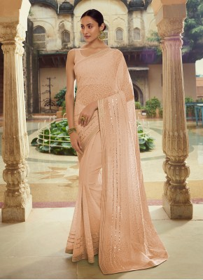 Appealing Georgette Engagement Trendy Saree