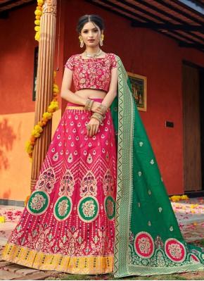 Appealing Weaving Engagement Lehenga Choli