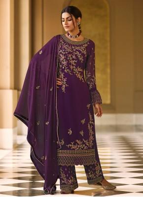 Aristocratic Faux Georgette Designer Pakistani Salwar Suit