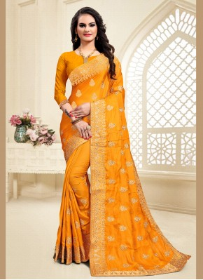 Aristocratic Satin Silk Zari Designer Saree