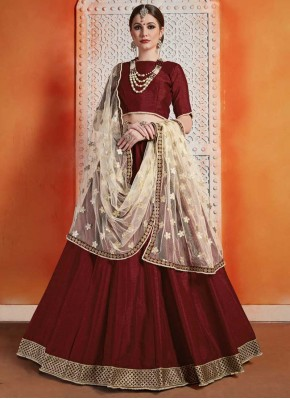 Art Silk Trendy Designer Lehenga Choli in Maroon