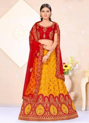 Artistic Banarasi Silk Lehenga Choli