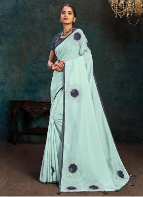 Artistic Blue Silk Traditional Saree