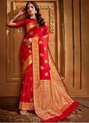 Artistic Weaving Classic Designer Saree