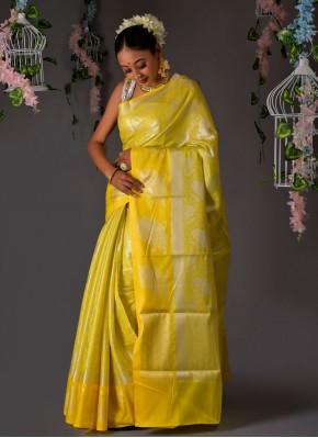 Aspiring Yellow Sangeet Designer Traditional Saree