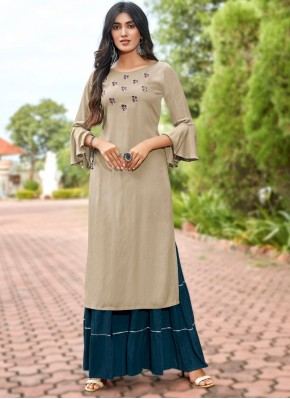Astonishing Embroidered Casual Party Wear Kurti