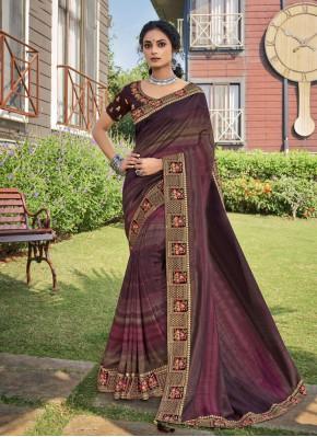 Astonishing Embroidered Chanderi Trendy Saree