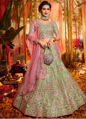 Astounding Mirror Multi Colour A Line Lehenga Choli