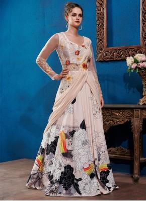 Astounding Multi Colour Fancy Fabric Designer Gown