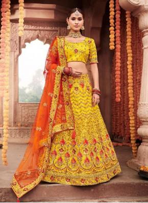 Astounding Resham Ceremonial Designer Lehenga Choli