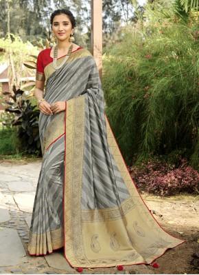 Astounding Swarovski Sangeet Designer Traditional Saree