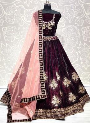 Attractive Embroidered Mehndi Lehenga Choli