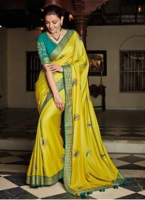Attractive Silk Party Designer Saree
