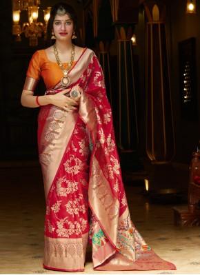 Attractive Weaving Party Bollywood Saree