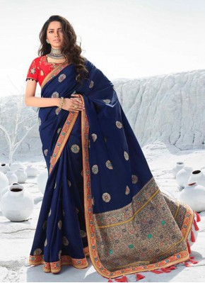 Awesome Embroidered Reception Contemporary Saree