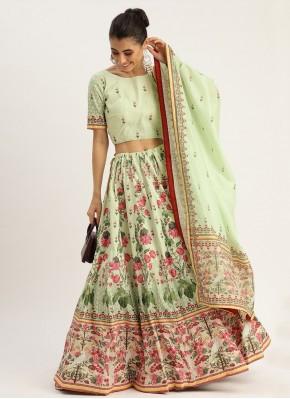 Awesome Green Silk Designer Lehenga Choli