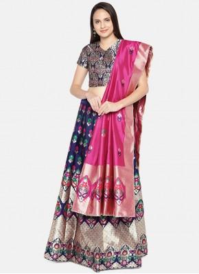 Banarasi Silk Blue Lehenga Choli