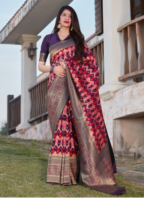 Banarasi Silk Designer Saree in Multi Colour