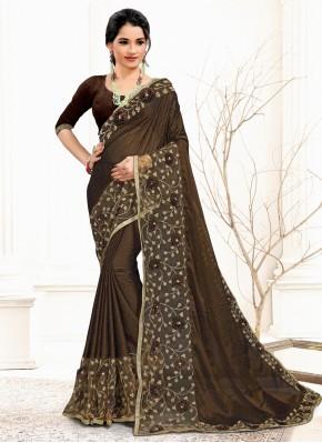 Banglori Silk Classic Saree in Brown