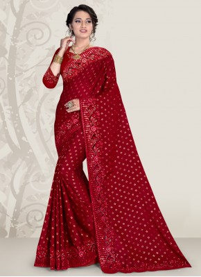 Banglori Silk Maroon Designer Traditional Saree