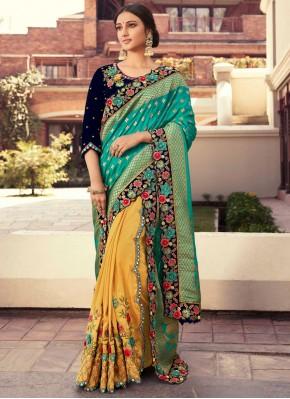 Baronial Fancy Fabric Designer Half N Half Saree