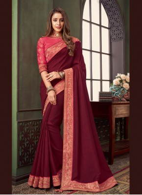 Baronial Fancy Fabric Patch Border Classic Saree